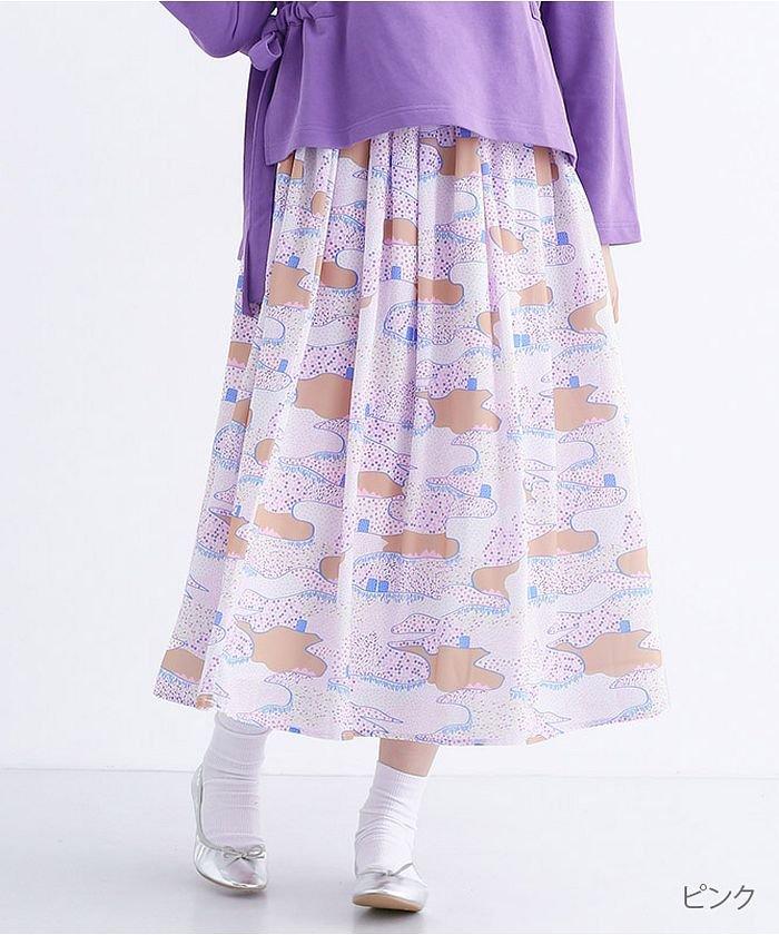 【テキスタイルコンペ作品】万里の長城柄スカート