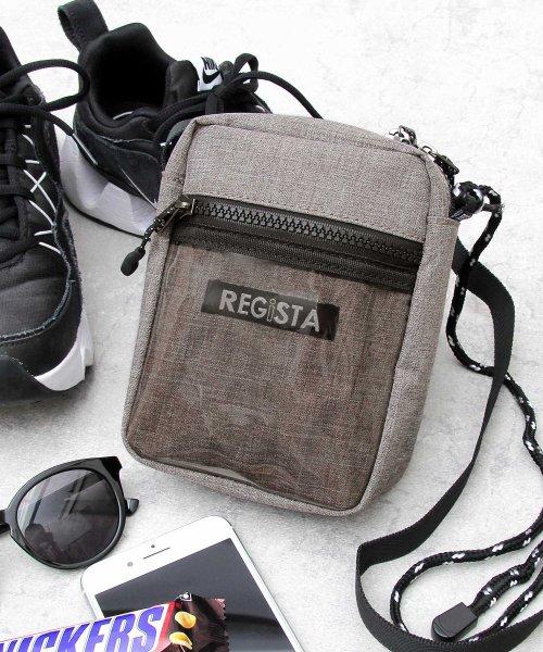 REGiSTA(レジスタ)/クリアポケットミニショルダーバッグ/縦型/サコッシュ/588