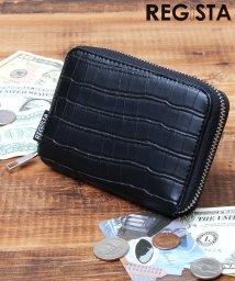 REGiSTA/ビルフォードウォレット/二つ折り財布/ミニウォレット/クロコ/501574561