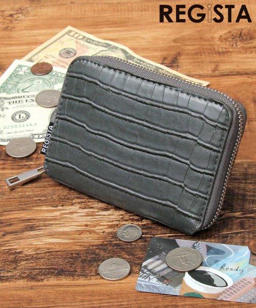 REGiSTA(レジスタ)/ビルフォードウォレット/二つ折り財布/ミニウォレット/クロコ/593