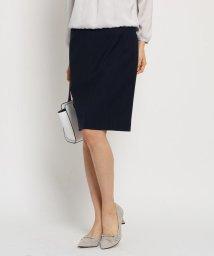 INDIVI/[L]シャドーストライプタイトスカート/501579726
