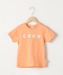 coen/【ファミリーでおそろい・coen キッズ / ジュニア】coen(コーエン)ロゴTシャツ・カラー(100~130cm)/501566344