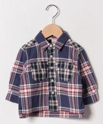 petit main/ダブルポケット切り替えチェックシャツ/501569356