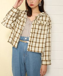 NICE CLAUP OUTLET/【セットアップ対応商品】【one after another】チェックブラウス/501570603