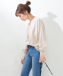NICE CLAUP OUTLET/【natural couture】いろんな位置ロゴロンT/501570607