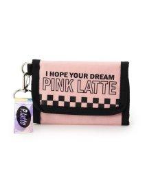 PINK-latte/ロゴチェッカー折りたたみ財布/501583765