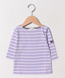 b-ROOM/ボートネックボーダーTシャツ/501569350