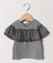 b-ROOM/チュールフリルTシャツ/501569352