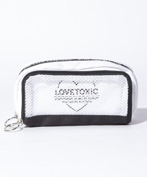 Lovetoxic(ラブトキシック)/メッシュロゴポーチ/8391426