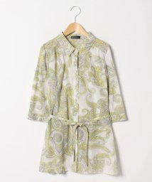 LAPINE ROUGE/【大きいサイズ】シルクコットン更紗プリント羽織りブラウス/501571785
