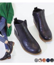 miniministore/ブーツ レディース ショットブーツ ブーティ 韓国 太ヒール 靴 春夏秋冬 ジップ レオパード/501584536