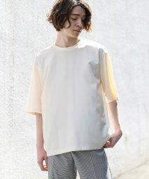 JUNRed/TR切替コンビTシャツ/501584699