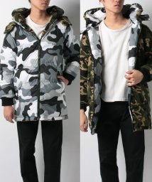LEVI'S MEN/LONG RVRSL CAMO PUFFER GREEN CAMO PRINT/501555970
