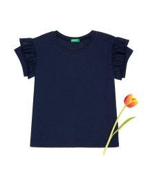 BENETTON (UNITED COLORS OF BENETTON GIRLS)/ショルダーフリル半袖Tシャツ・カットソー/501567861