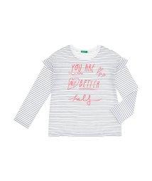 BENETTON (UNITED COLORS OF BENETTON GIRLS)/ドロップショルダーフリル長袖Tシャツ・カットソー/501567864