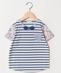 SENSE OF WONDER/リバティ×ボーダー切り替えTシャツ/501569313