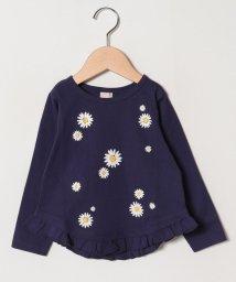 petit main/マーガレットプリント長袖Tシャツ/501573229