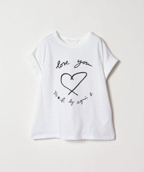 To b. by agnes b.(トゥービー バイ アニエスベー)/W984 TS メッセージTシャツ/4405W984E19