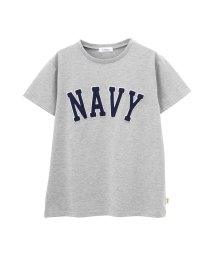 MAC HOUSE(women)/Navy ロゴワッペンTシャツ EJ193-WC156/501582825