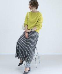 FUNNY COMPANY+/タック編みラインフレアスカート/501583342