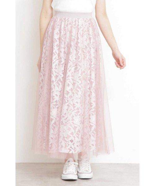 PROPORTION BODY DRESSING(プロポーション ボディドレッシング)/◆チュールレーススカート/1219120900