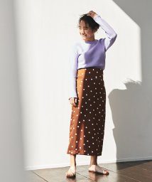 MACPHEE/【別注】金子綾xMACPHEE ポリエステルドットプリント ミディタイトスカート/501590932