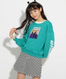 PINK-latte/★ニコラ掲載★転写裏毛 トップス/501591523