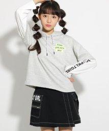 PINK-latte/★ニコラ掲載★袖レイヤードフード トップス/501591581