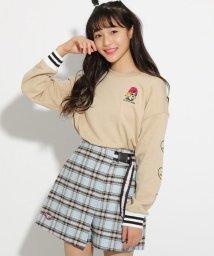 PINK-latte/★ニコラ掲載★胸ワンポイント刺繍裏毛 トップス/501591582