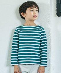 green label relaxing (Kids)/ポンチボーダーボートネックプルオーバー/501566322