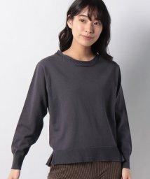 MELROSE Claire/襟元振り柄編みストレッチベーシックプルオーバー/501582947