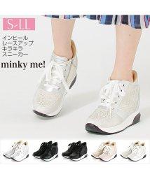 minky me!/インヒールレースアップキラキラスニーカー/501591177