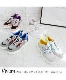 Vivian/カラーコンビダッドスニーカー/501591183