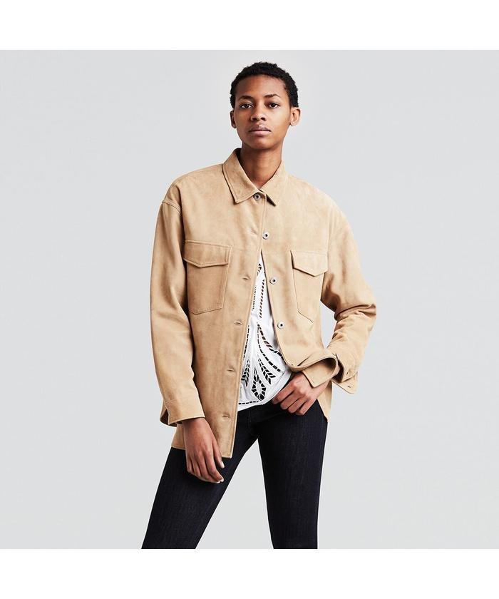シャツジャケット/SAND
