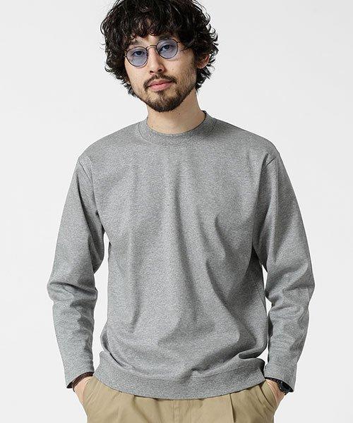 nano・universe(ナノ・ユニバース)/二重編みモックネックTシャツ 9/S/6689123005