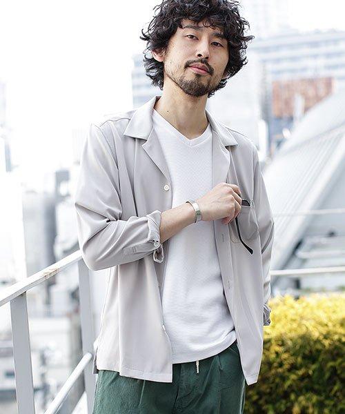 nano・universe(ナノ・ユニバース)/ストレッチオープンカラーシャツ 長袖/6749120020