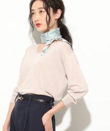 ViS/【UV CARE&COOL TOUCH】ひんやりVネック7分袖プルオーバー/501590205