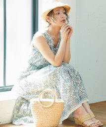 ROPE' PICNIC/【WEB限定】パネル柄ティアードワンピース/501590261
