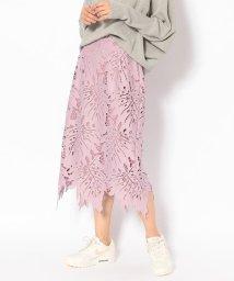 RoyalFlash/SUGAR ROSE/シュガーローズ/リーフレースタイトスカート/501594987