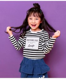 ANAP KIDS/袖レースアッププリントロンTee/501595073