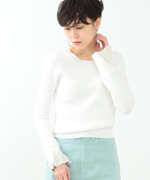 BEAMS OUTLET(ビームス アウトレット)/Ray BEAMS / ワッフル編 フリルカフス クルーネック/63150453646