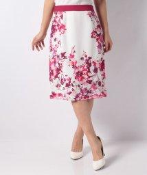 LAPINE BLANCHE/花柄パネルプリントセミタイトスカート/501571310