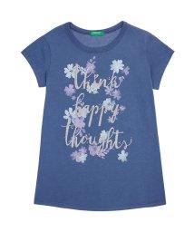 BENETTON (UNITED COLORS OF BENETTON GIRLS)/ハート&フラワープリント半袖Tシャツ・カットソー/501582071