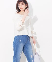 NICE CLAUP OUTLET/【natural couture】スクエアネックブラウス/501589246