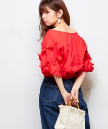 NICE CLAUP OUTLET/【natural couture】たくさんリボンシャーリング2WAYブラウス/501589256