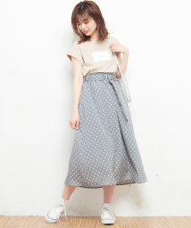 NICE CLAUP OUTLET/【natural couture】Dかんベルト付ドットスカート/501589348