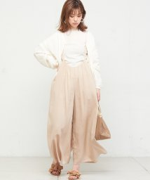 NICE CLAUP OUTLET/【natural couture】ギャザー×後ろレースアップサロペ/501589357
