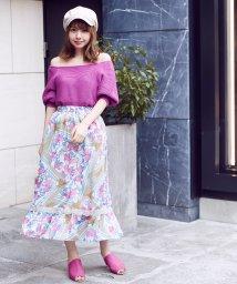 MIIA/オリジナルスカーフ柄マキシスカート/501593852