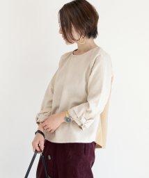 FUNNY COMPANY+/異素材切替袖リボンブラウス/501593908