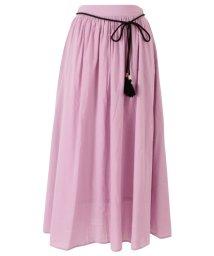 titivate/タッセルベルト付きコットンギャザースカート/501595700